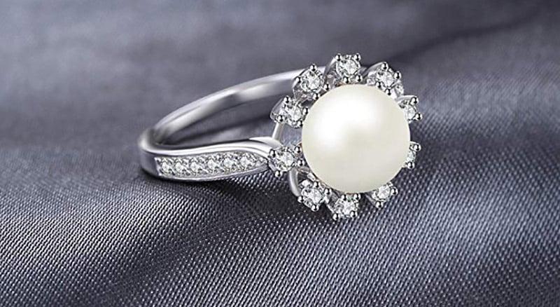 bague perle