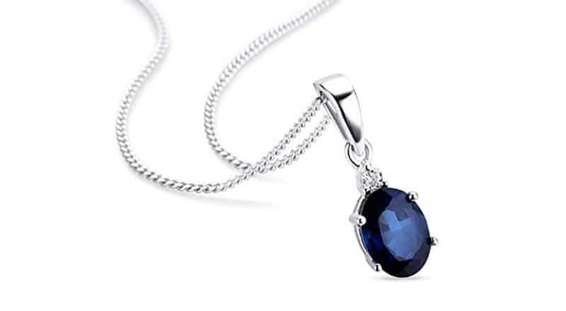 collier diamant saphir