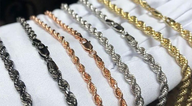 les différents types d'or pour la fabrication de bijoux